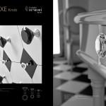 Bouton de meuble Deluxe Noir ou transparent Arius design
