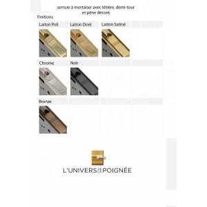 Serrures avec têtières décorées perlées STYLE Finition: Laiton Poli, Laiton doré Laiton satiné, chromé, Noir, ou Bronze.