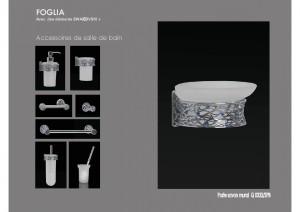 Collection FOGLIA SWAROVSKI accessoires SDB