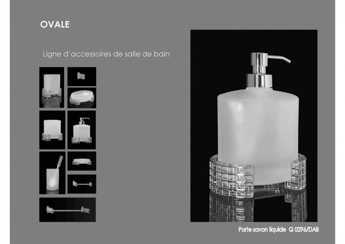 ligne d 39 accessoires pour salles de bains gamme ovale. Black Bedroom Furniture Sets. Home Design Ideas