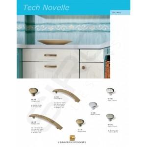 """Boutons et tirants de placards """"Tech Novelle"""". Une ligne résolument simple et moderne."""