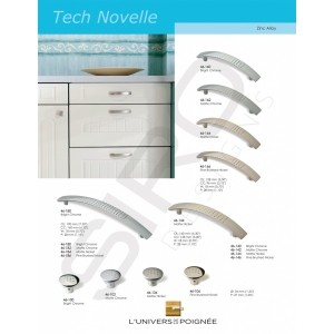 """D'autres finitions pour ces boutons et tirants de placards """"Tech Novelle"""". Une ligne résolument simple et moderne."""