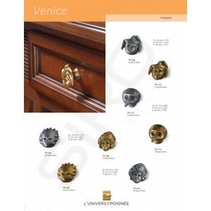 """Boutons de meubles """"gamme Venice"""". Choisissez le masque qui ornera votre tiroir"""