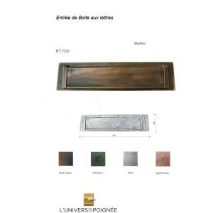 Entrée de Boite aux lettres en Bronze.