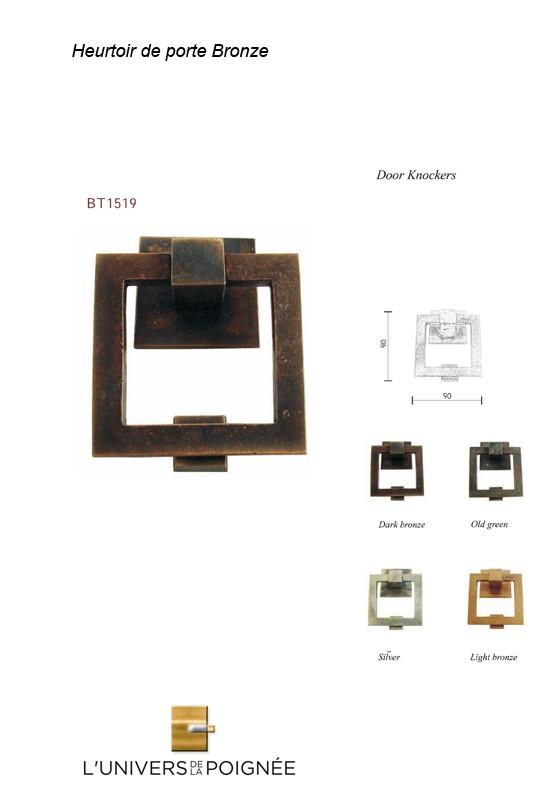 heurtoir de porte en bronze cr ation atelier univers de la poign e. Black Bedroom Furniture Sets. Home Design Ideas
