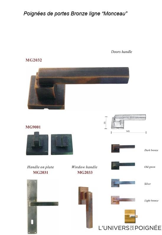 poign e monceau en bronze cr ation atelier univers de la poign e. Black Bedroom Furniture Sets. Home Design Ideas