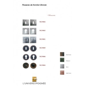 Rosace carrée ou ronde en Bronze