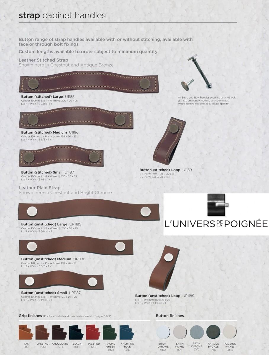 Poign e sangle en cuir pour ouvrir vos portes de meubles - Poignee de meuble en cuir ...