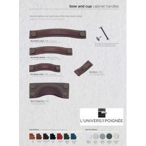 Anses et poignées cuir pour portes de placards ou tiroirs