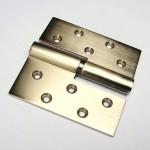 Paumelle Nickel Satiné à lame 125x125 Noeud de 20mm