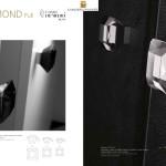 Bouton de Tirage Diamond Noir ou transparent