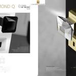 Bouton de porte DIAMOND Q Noir ou transparent