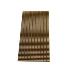 Plaque rectangle Cabochon PM Bronze mat