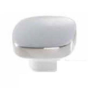 Bouton carré porcelaine